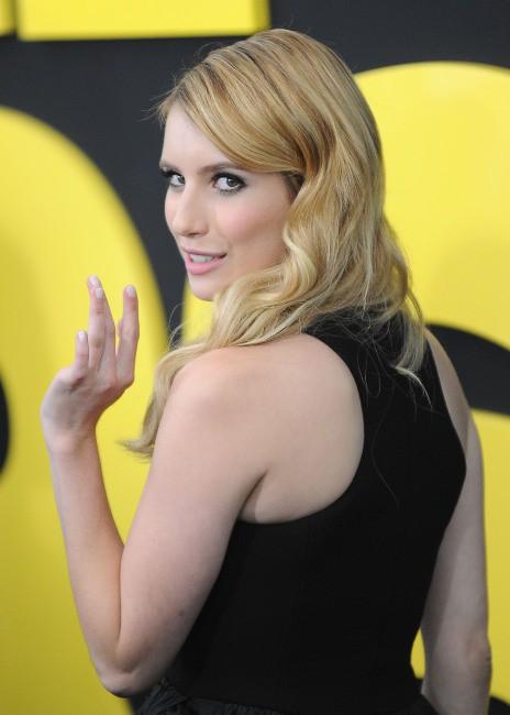 """Emma Roberts lors de la première de son nouveau film """"We're the Millers"""" à New York, le 1er août 2013."""