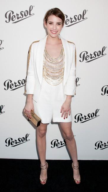 Emma Roberts lors de la soirée Persol à New York, le 10 juillet 2013.