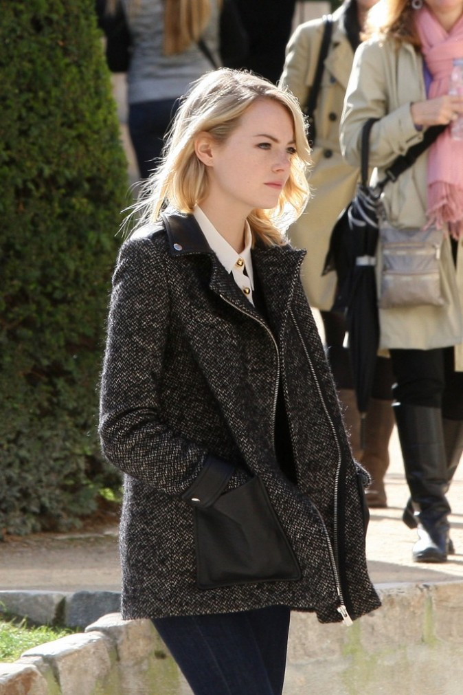 Emma Stone, Paris, 4 octobre 2012.