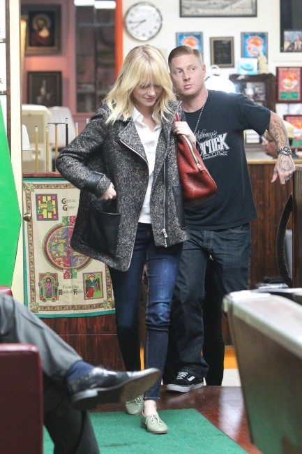 Emma Stone le 17 octobre 2012 à Los Angeles