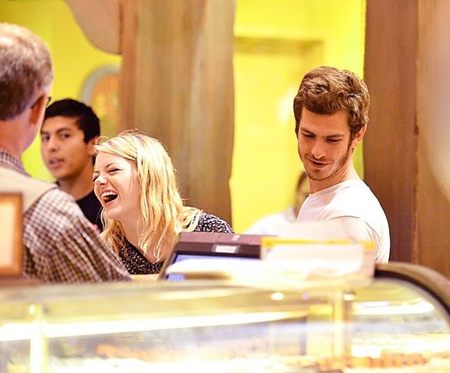 Emma Stone et Andrew Garfield, Anaheim, 23 aout 2012