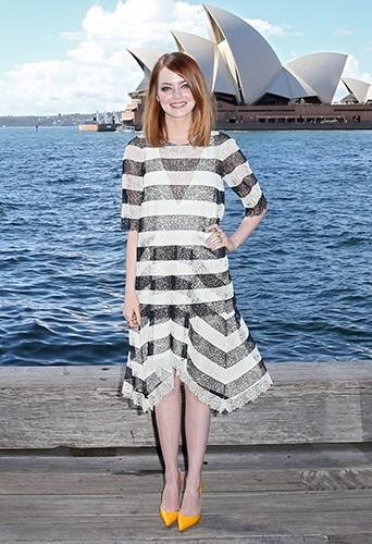 Emma Stone à Sydney le 19 mars 2014