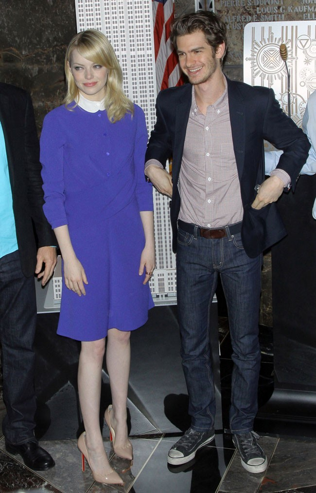 Emma Stone et Andrew Garfield le 25 juin 2012 à New York