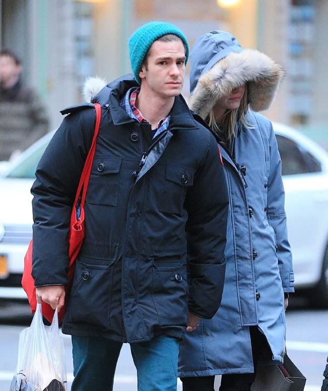 Andrew Garfield et Emma Stone en amoureux à New-York le 2 mars 2013
