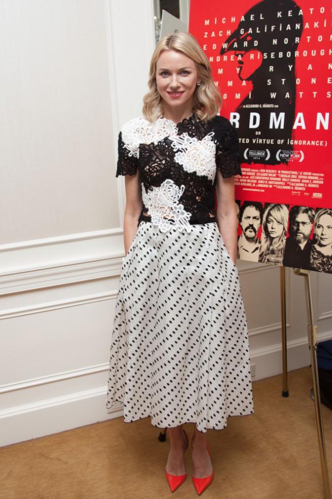 Naomi Watts à New York le 13 octobre 2014