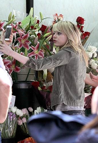 Emma Stone à New-York, le 10 avril 2013