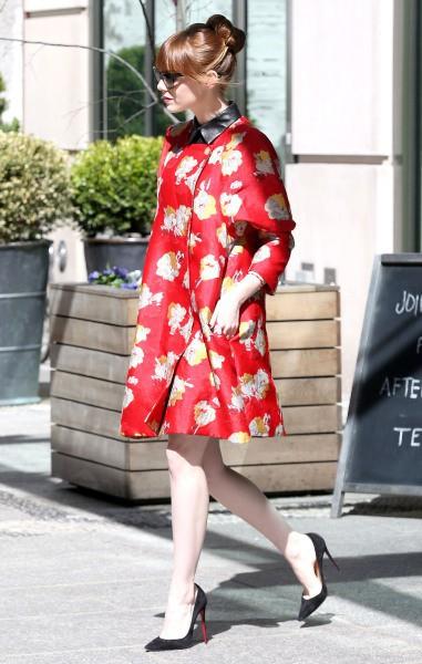 Emma Stone à New York, le 28 avril.