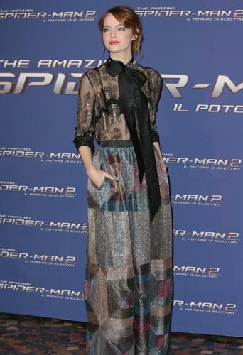 Emma Stone à Rome le 14 avril 2014