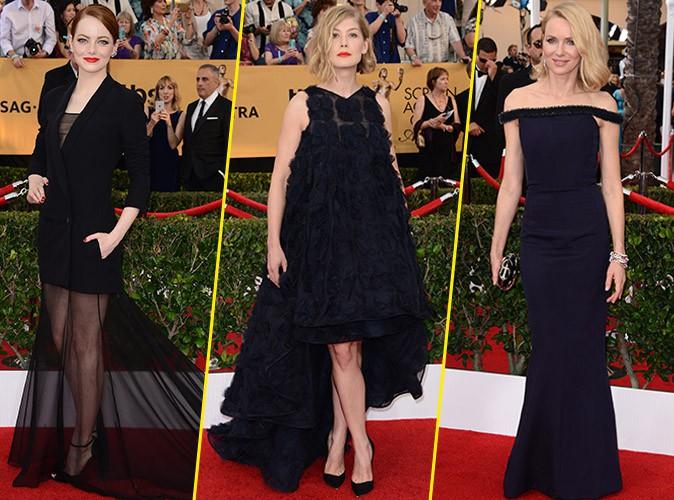 Emma Stone, Rosamund Pike et Naomi Watts le 25 janvier 2015