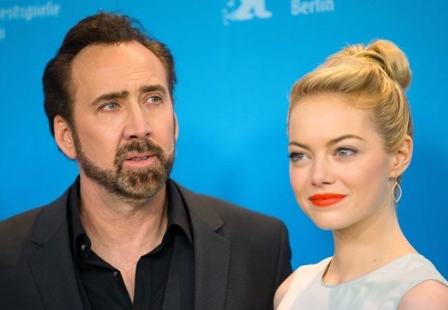 Emma Stone et Nicolas Cage le 15 février 2013 à Berlin