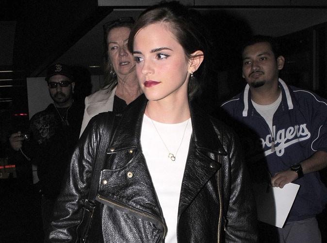 Emma Watson à l'aéroport de Los Angeles le 11 janvier 2014