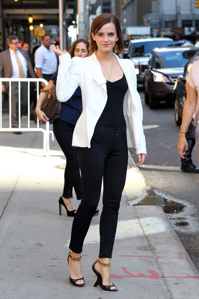 Emma Watson le 5 septembre 2012 à New York