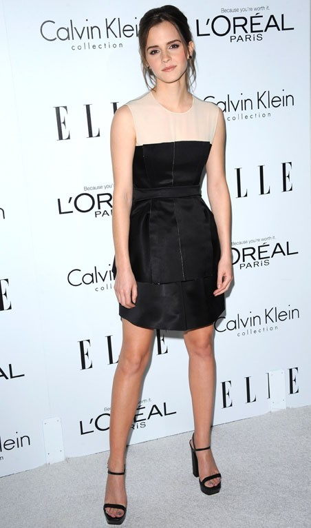 Emma Watson à la soirée ELLE Women in Hollywood le 15 octobre 2012