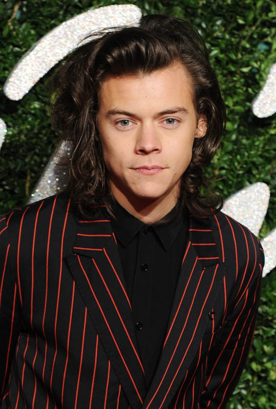 Harry Styles aux British Fashion Awards le 1er décembre 2014