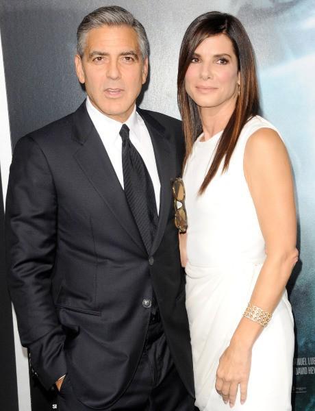 George Clooney et Sandra Bullock lors de la première du film Gravity à New York, le 1er octobre 2013.
