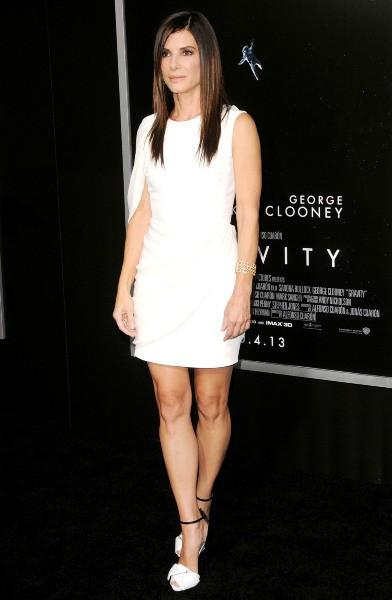 Sandra Bullock lors de la première du film Gravity à New York, le 1er octobre 2013.