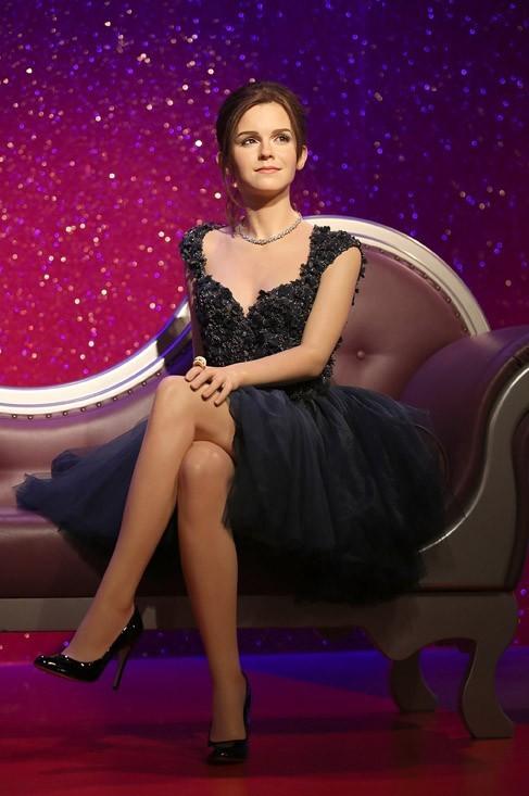 La statue de cire d'Emma Watson dévoilée au Musée Madame Tussaud de Londres le 26 mars 2013