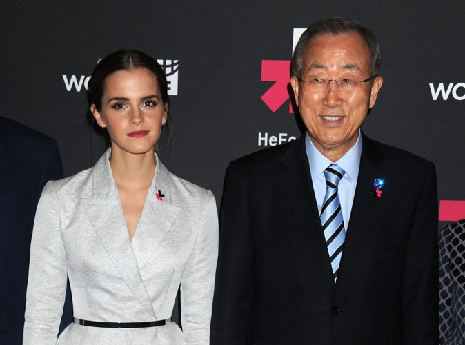 Emma Watson et Ban Ki-moon à New York le 21 septembre 2014