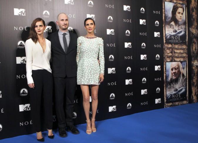 """Emma Watson, Darren Aronofsky et Jennifer Connelly lors de la première de """"Noah"""", le 17 mars 2014."""