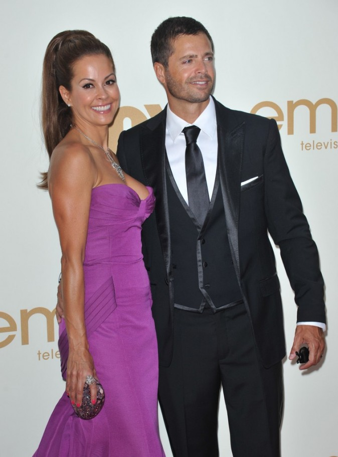 Brooke Burke et David Charvet lors des Emmy Awards 2011 à Los Angeles, le 18 septembre 2011.