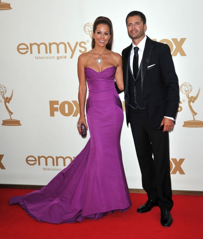Brooke Burke et David Charvet lors des Emmy Awards 2011 à Los Angeles, le 18 septembre 2011.
