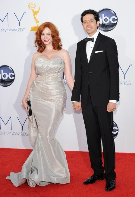 Christina Hendricks et Geoffrey Arend lors des Emmy Awards à Los Angeles, le 23 septembre 2012.