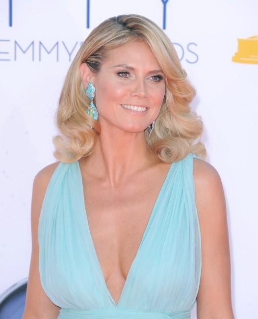 Heidi Klum lors de la 64e cérémonie des Emmy Awards à Los Angeles, le 23 septembre 2012.