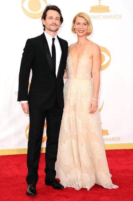 Claire Danes et son mari Hugh Dancy lors de la cérémonie des Emmy Awards, le 22 septembre 2013.