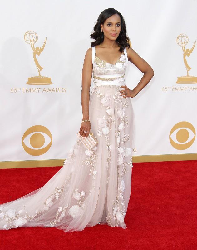 Kerry Washington lors de la cérémonie des Emmy Awards à Los Angeles, le 22 septembre 2013.