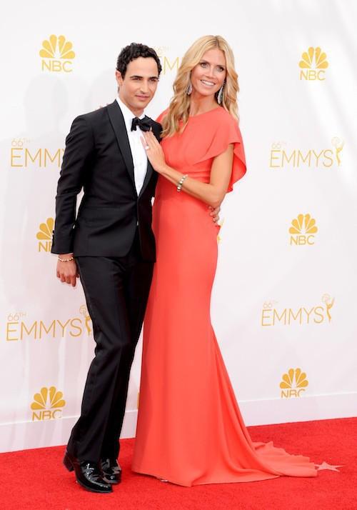 Heidi Klum et Zac Posen aux Emmy Awards 2014