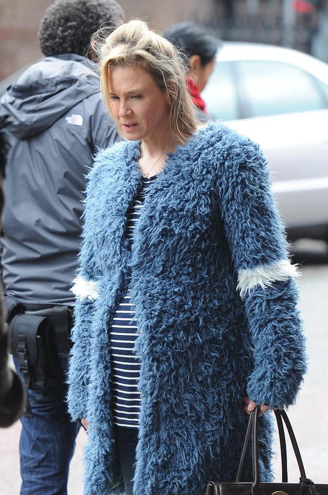 """Renée Zellweger sur le tournage de """"Bridget Jones 3"""" le 7 octobre 2015"""