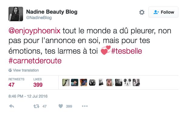 Les fans d'EnjoyPhoenix s'expriment sur twitter