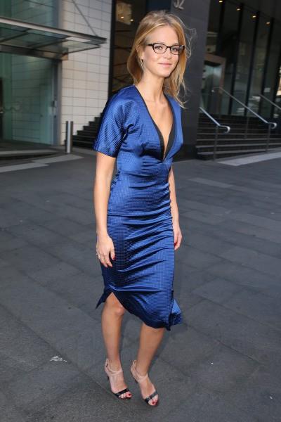 Erin Heatherton en promo à Sydney, le 20 août 2013.