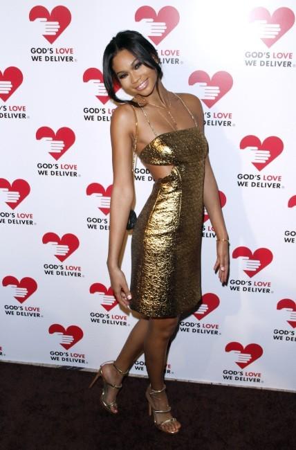 """Chanel Iman lors de la soirée """"God's Love We Deliver Golden Heart Awards Celebration"""" à New York, le 15 octobre 2012."""