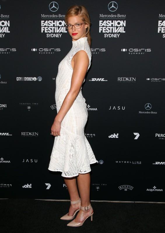 Erin Heatherton lors du Mercedes-Benz Fashion Festival Sydney 2013 à Sydney, le 21 août 2013.