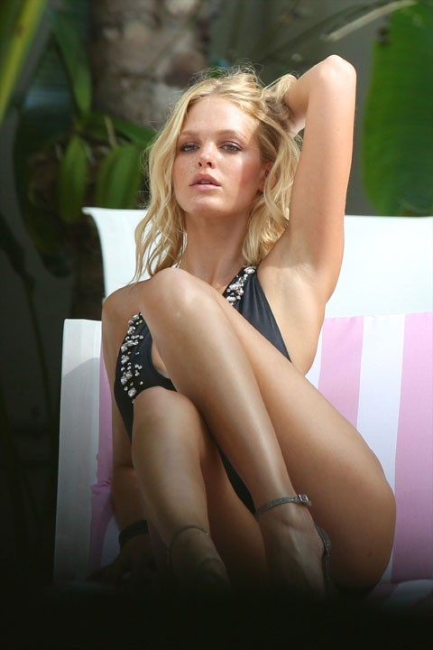 Erin Heatherton en shooting à Miami le 10 septembre 2012