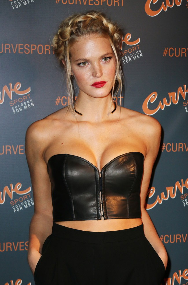Erin Heatherton à New-York le 12 janvier 2015