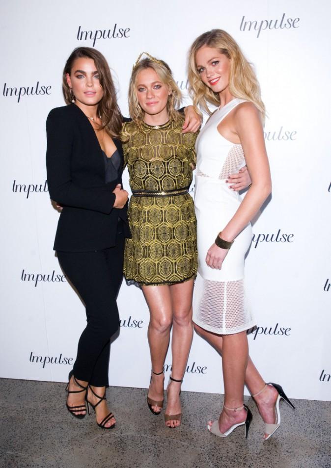Erin Heatherton, Bambi Northwood et Zippora Seven le 6 août à Sidney pour le lancement du nouveau parfum d'Impulse