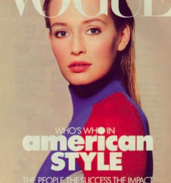 Estelle Lefébure plus jeune en couverture de Vogue