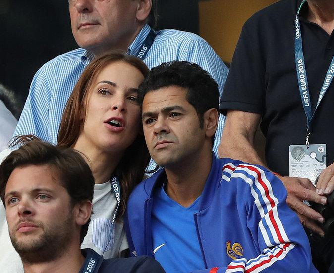 Jamel Debbouze et sa femme Melissa Theuriau n'ont pas loupé une miette du match