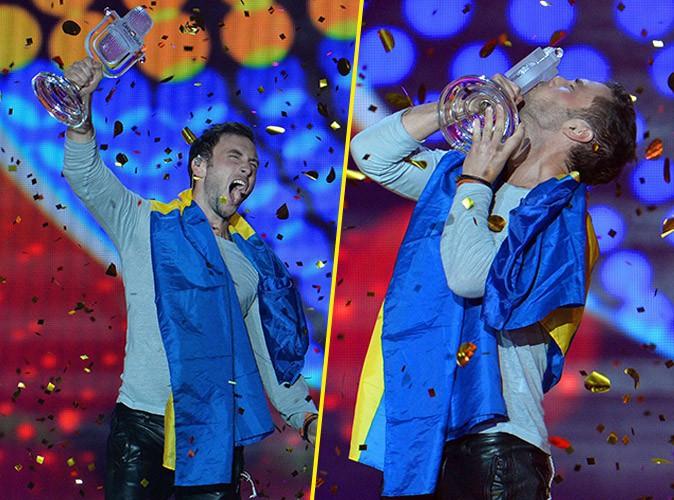 Mans Zelmerlöw lors de l'Eurovision le 23 mai 2015