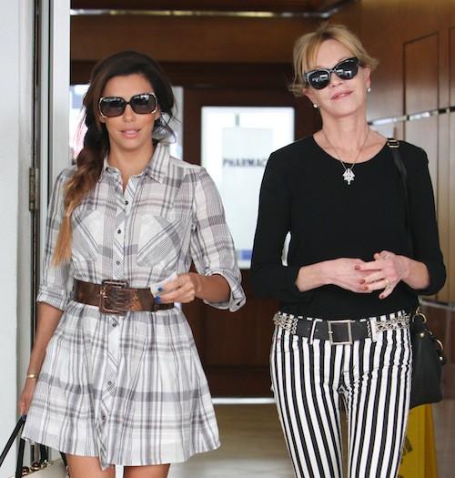 Photos : Eva Longori et Mélanie Griffith : quasiment main dans la main pour faire du shopping !