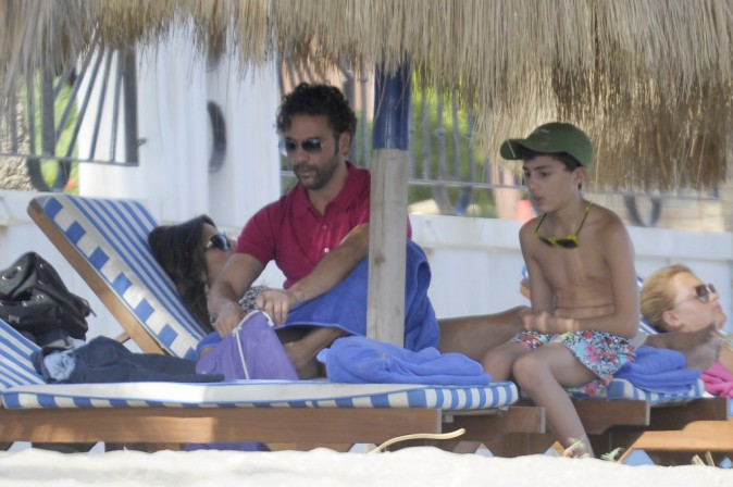 Eva Longoria à Marbella avec Jose Antonio Baston le 18 juillet 2014