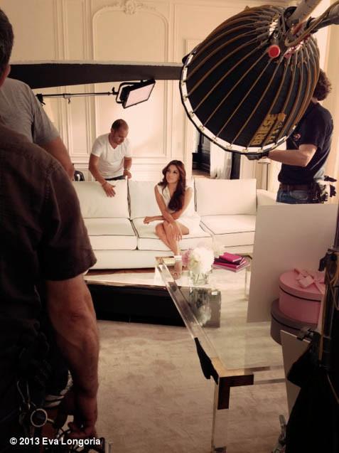 Sur le tournage de sa nouvelle publicité pour L'Oréal