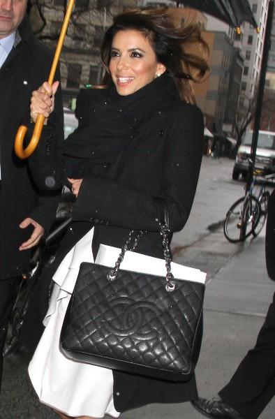 Eva Longoria à New York, le 10 décembre 2013.