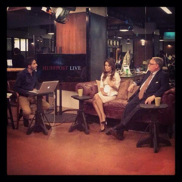 Eva Longoria lors de l'émission HuffPost Live à New York, le 10 décembre 2013.