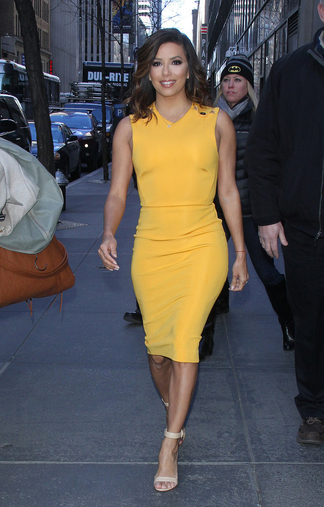 Photos : Eva Longoria : elle court le pavé en black and yellow !
