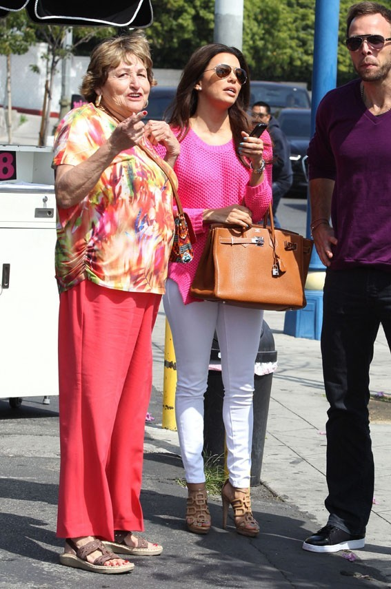 Eva Longoria avec sa maman, Ella, à Los Angeles le 16 mars 2013