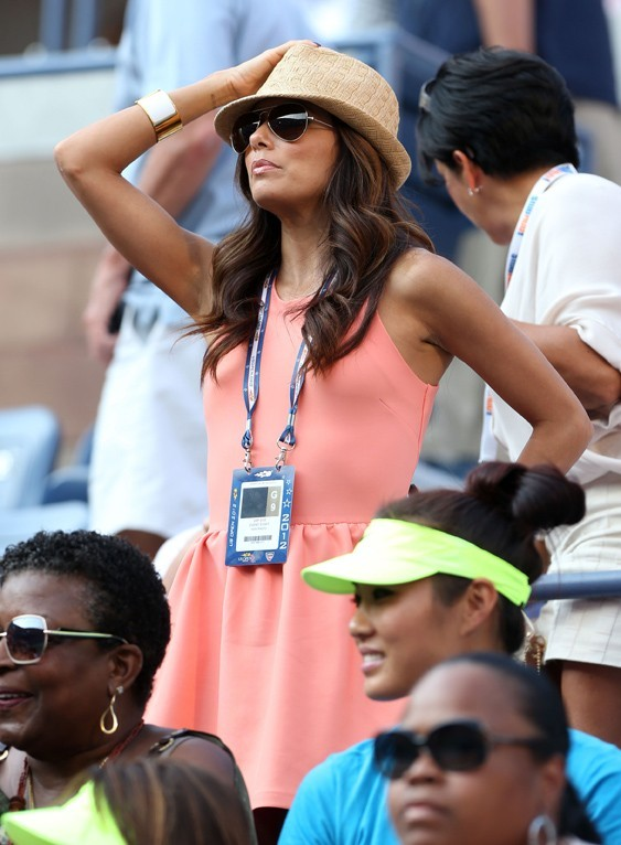 Eva Longoria à l'US Open de New-York le 30 août 2012