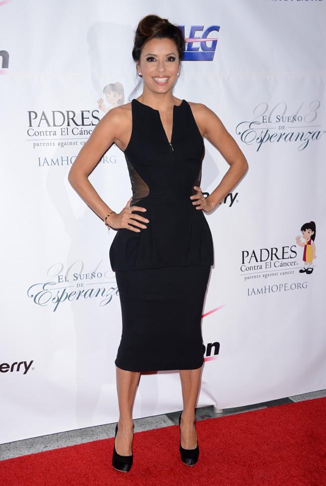 Eva Longoria à la soirée Padres Contra el cancerr organisée à Los Angeles le 24 septembre 2013